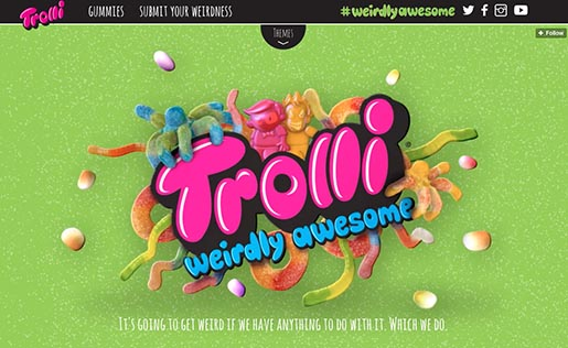 Trolli Weirdly Awesome site