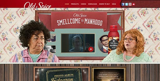 Old Spice Smellcome to Manhood Facebook site