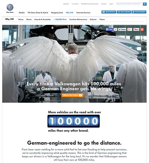 Volkswagen of America 1000 Miles Wings Page