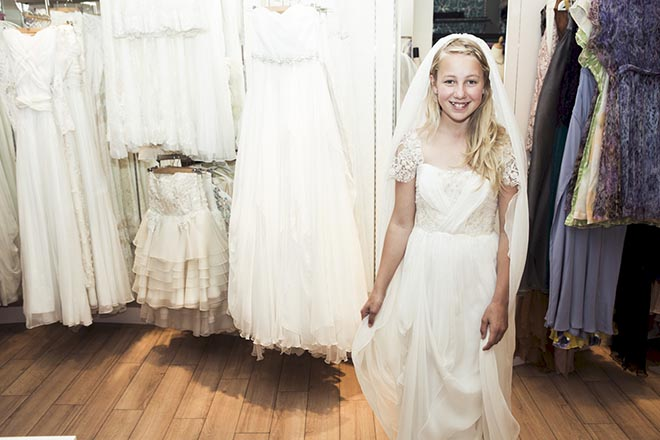 Thea Child Bride with wedding dresses