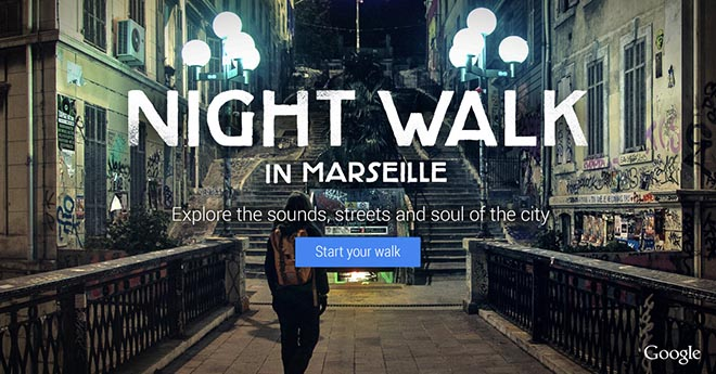 Google Nightwalk in Marseille