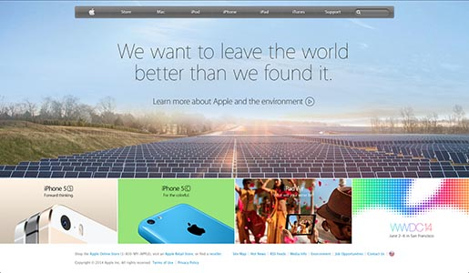 Apple - We want to leave the world a better place than we found it