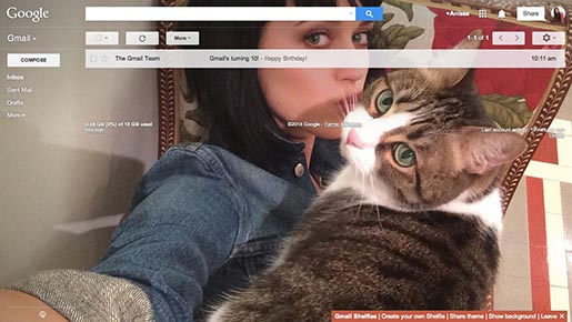 Katty Perry Cat Gmail Selfie