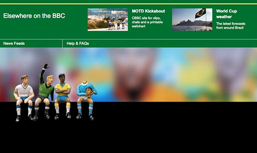 BBC FIFA World Cup Figurines in Footer