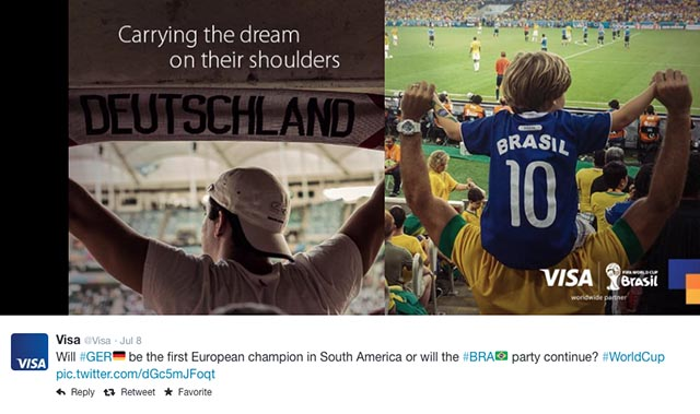 VISA Twitter FIFA World Cup pic