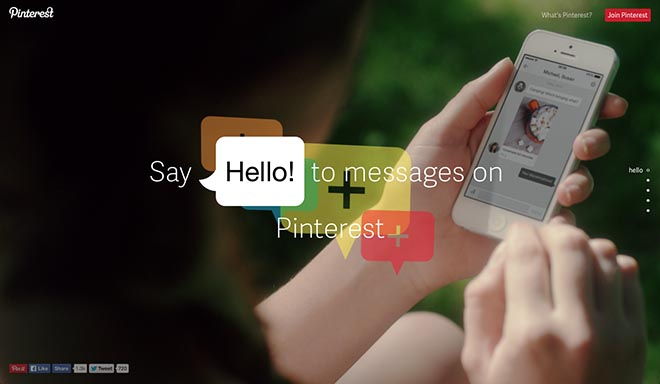 Pinterest Say Hello to Messages