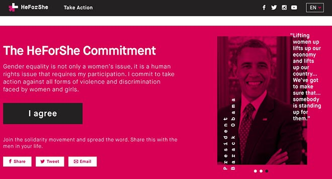 HeForShe Commitment