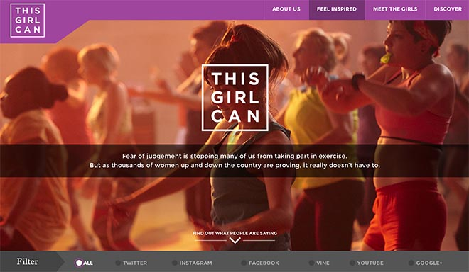 Sport England These Girls Can - interactive site
