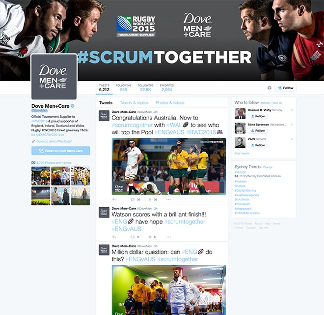 Dove Men Care Scrum Together Twitter