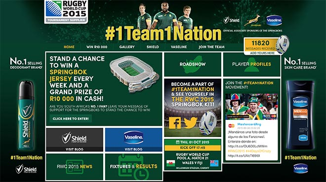 Shield One Team One Nation site