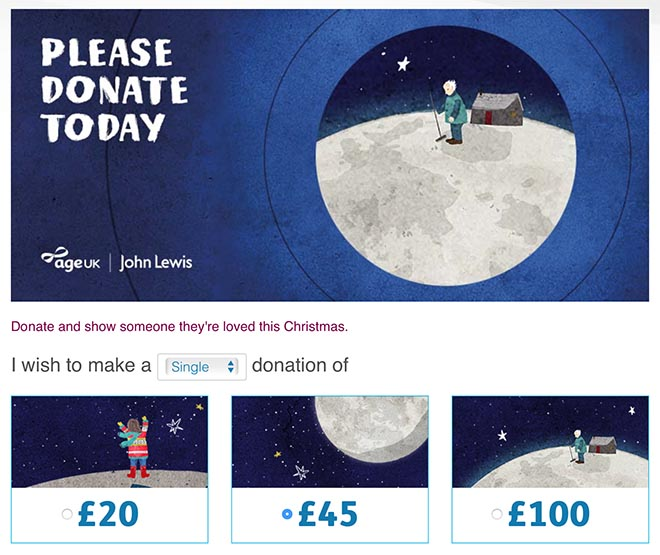 Age UK Man on the Moon Please Donate Today
