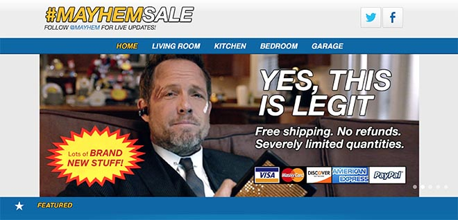 Allstate Mayhemsale site yes it's legit