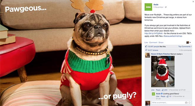 ASDA Pawgeous or Pugly on Facebook