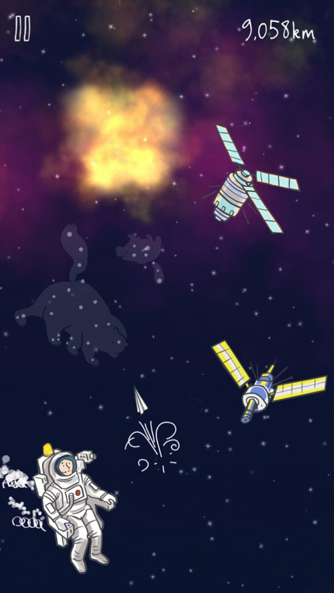 John Lewis astronaut in Man on the Moon app