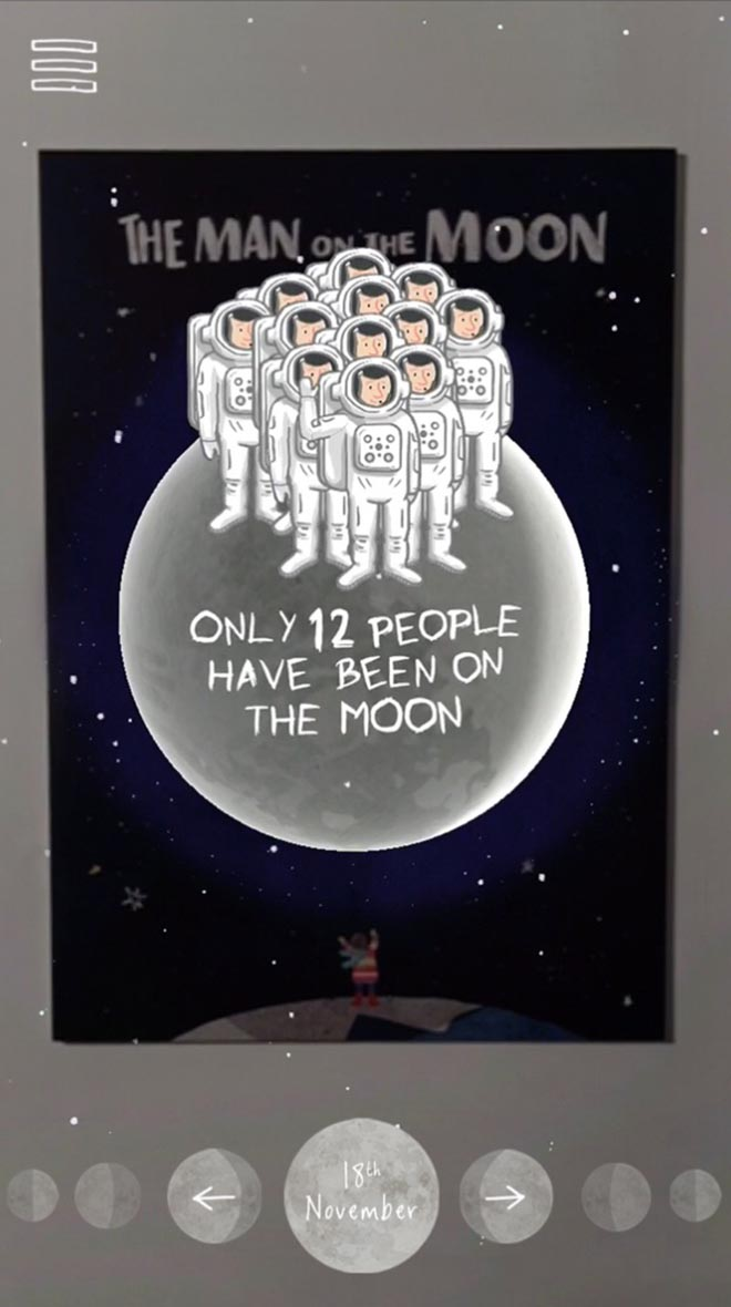 John Lewis ManontheMoon fact app