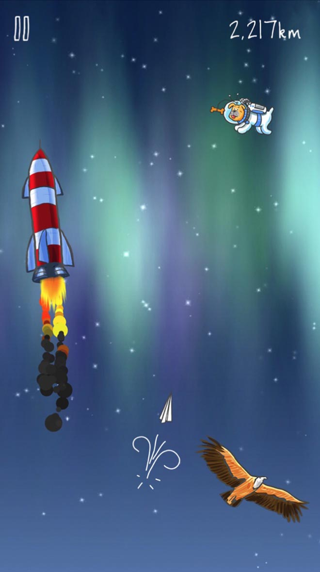 John Lewis space game in Man on the Moon app