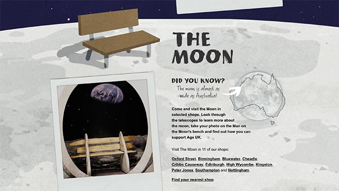 John Lewis Visit The Moon in stores