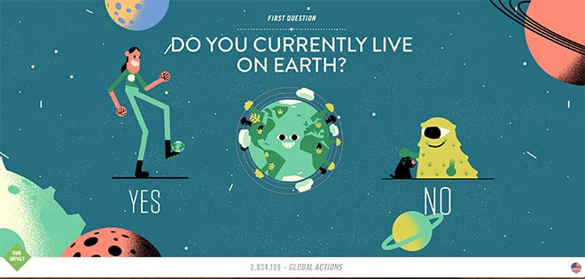 Do you currently live on earth? Climate Action Project World's Easiest Decision