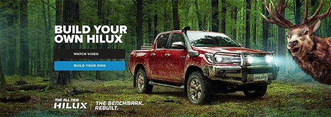 Toyota NZ Build your own Hilux - deer