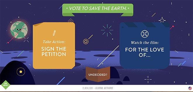 Vote to save the earth -  Climate Action Project World's Easiest Decision