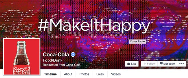 Coca Cola Maket It Happy site