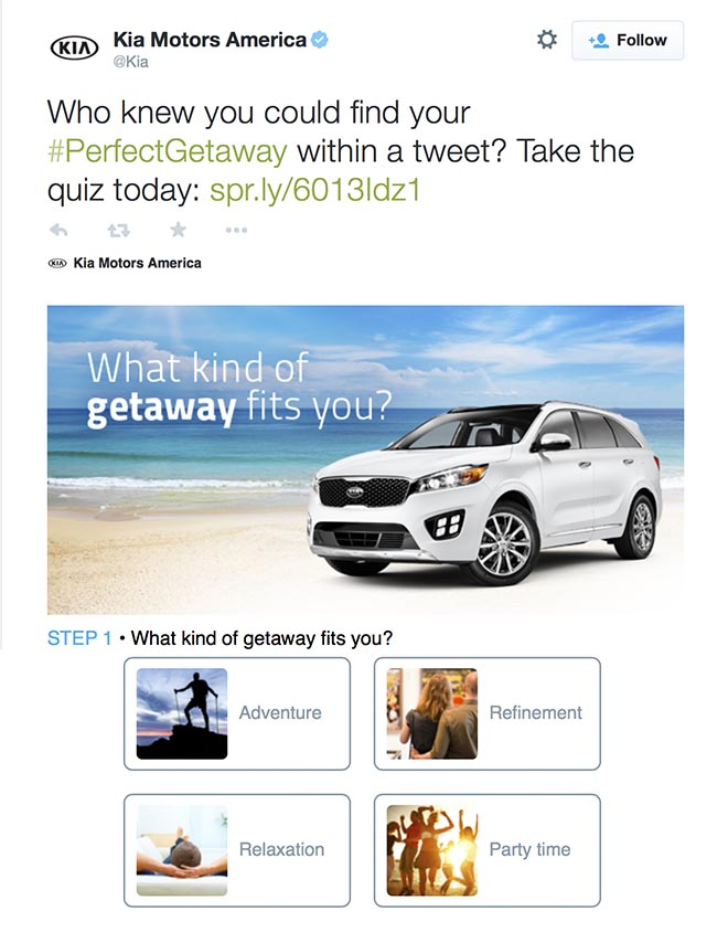 Kia The Perfect Getaway Twitter banner