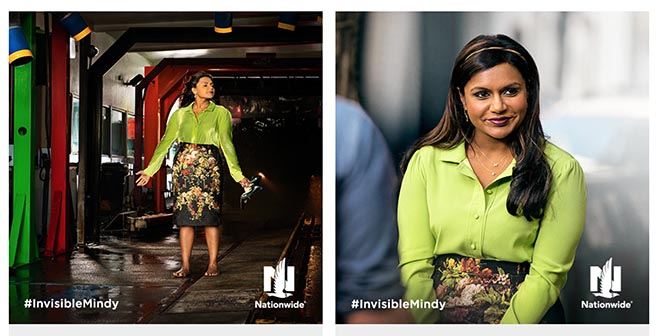 Nationwide Invisible Mindy Kaling photos