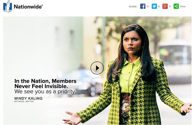 Nationwide Invisible Mindy Kaling site