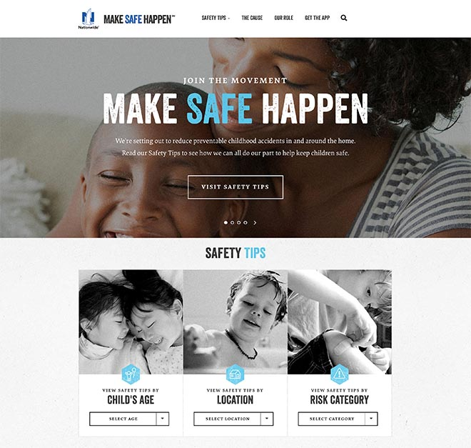 Nationwide Make Safe Happen site