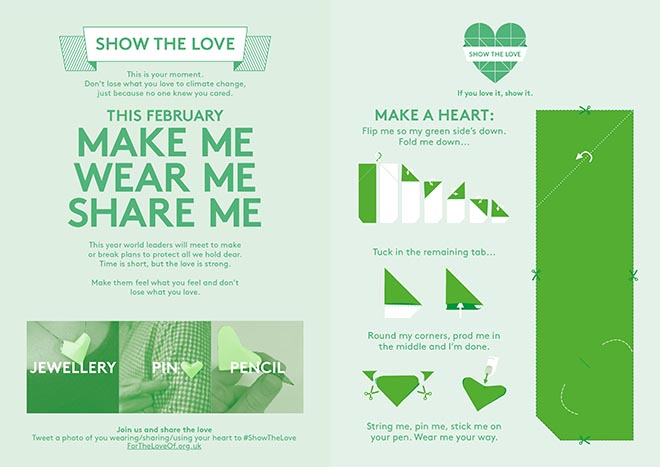 Show The Love Heart Instructions