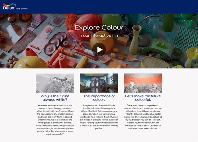 Dulux Interactive site
