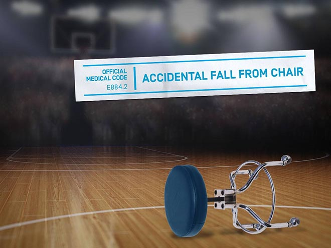 UnitedHealthCare Accidental Fall from chair medical code