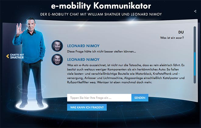 Volkswagen Future is Now Leonard Nimoy Communicator