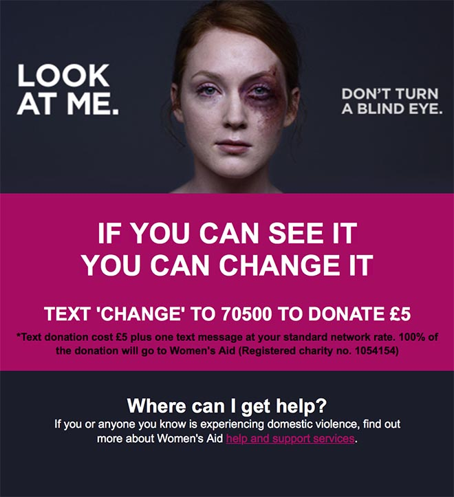 Look at me don't turn a blind eye - Womens Aid site