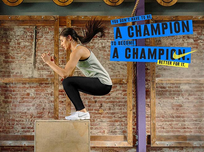 Nike Women #betterforit Champion