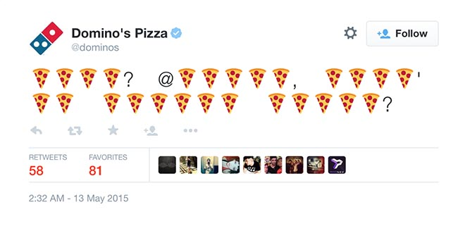 Order Domino's with a tweet