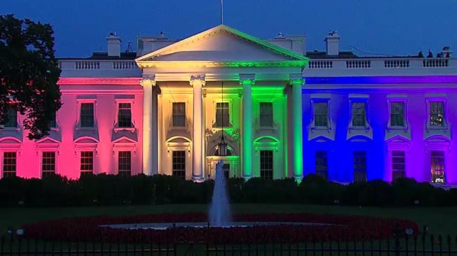 The White House Rainbow Colors
