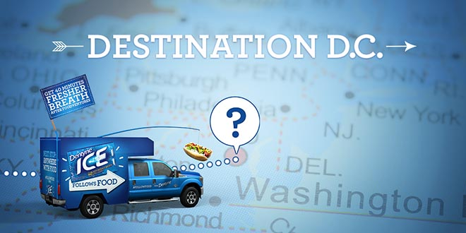 Dentyne Follow Food Truck Destination D.C.