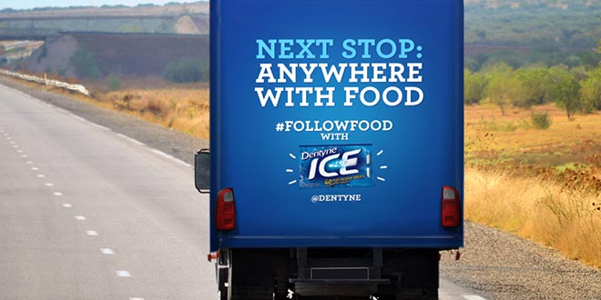 Dentyne Follow Food Truck Next Stop