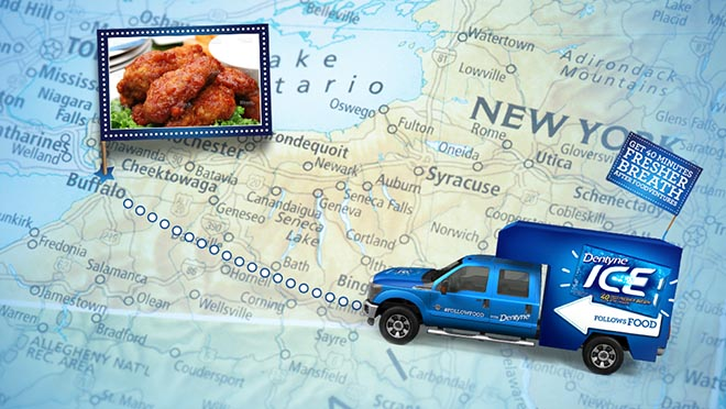 Dentyne Follow Food Truck in Buffalo