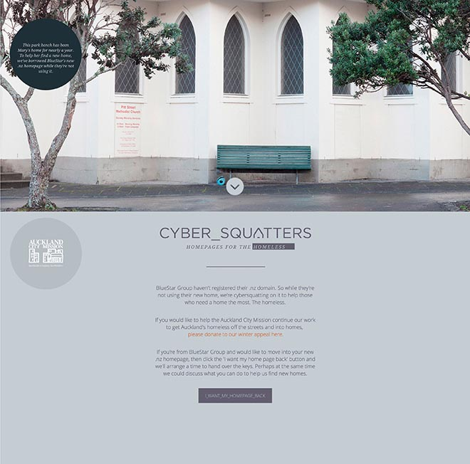 Auckland City Mission Cyber Squatting Blue Star Group