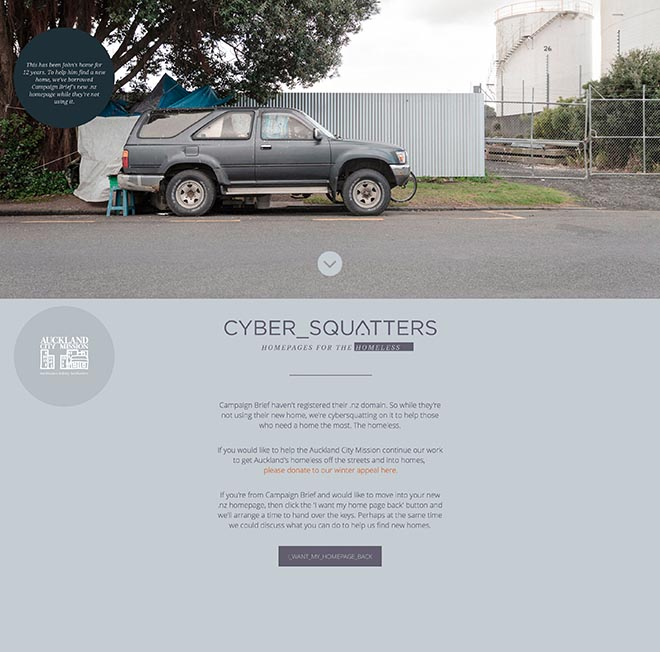 Auckland City Mission Cyber Squatting Campaign Brief
