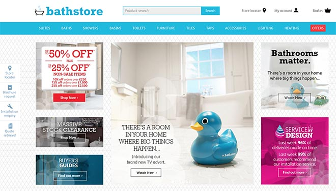 Bathstore site with Blue Duck
