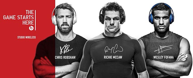 Beats by Dre Instagram - Game Starts Here Chris Robshaw, Richie McCaw, Wesley Fofana