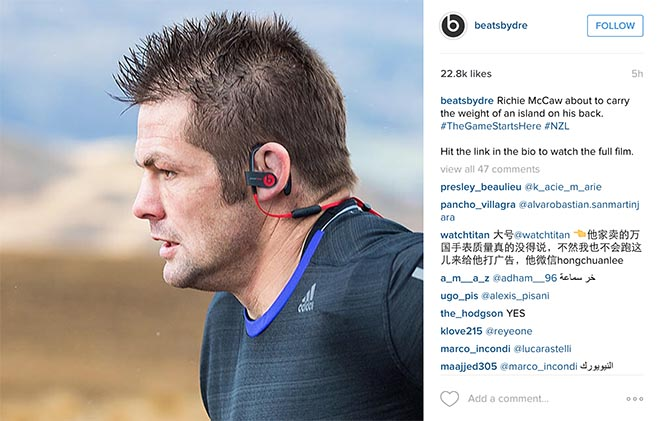 Beats by Dre Instagram - Richie McCaw