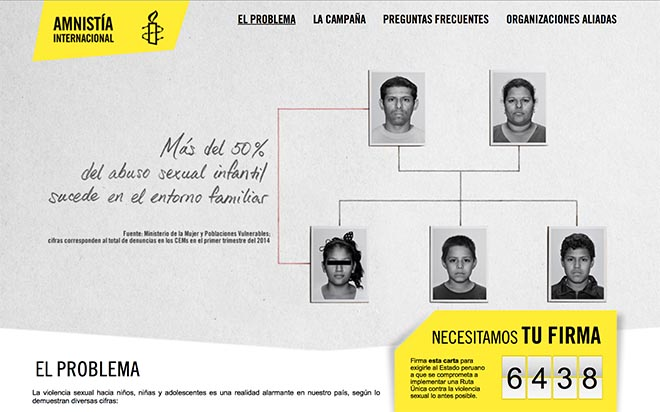 Amnesty Peru sexual abuse site