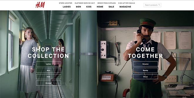 H&M Come Together Site