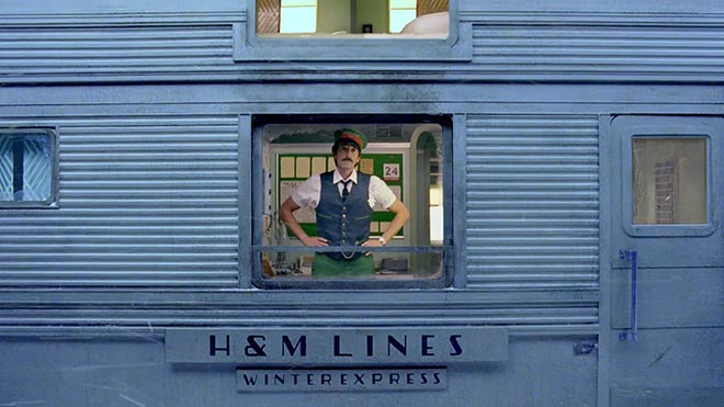 Adrien Brody on H&M Come Together Winter Express Train