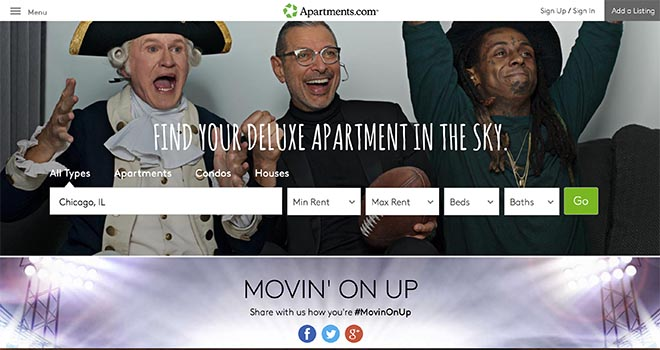 Apartments.com Movingonup site