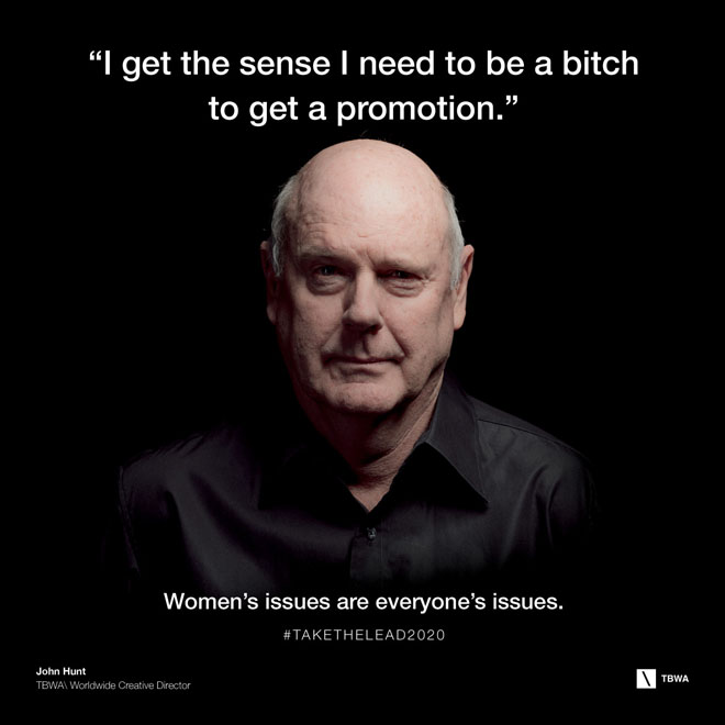 TBWA Take The Lead on Gender Equality in the workplace - John Hunt